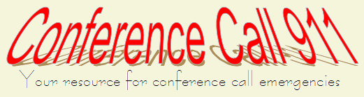 Conference Call 911, your resource for conference call services emergencies